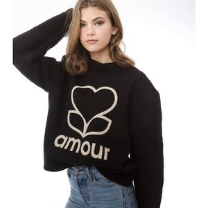NWT Amour Cable Knit Top